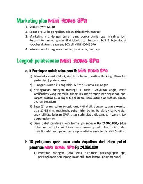 Mangkok Dan Kuas Lulur mini home spa business planning