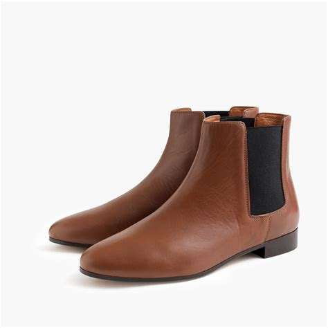 brown chelsea boots lyst j crew chelsea boots in brown