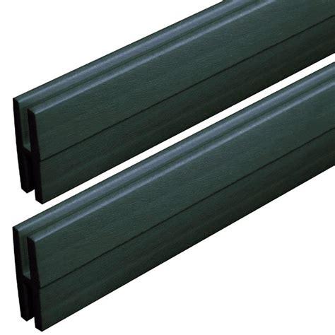 veranda 0 74 in x 2 13 in x 4 ft woodland green vinyl