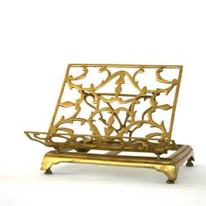 book stand easel decorative vintage brass book stand