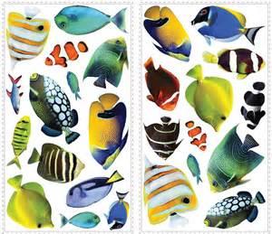 new tropical fish amp 3d lenticular portholes wall decals fish wall decals wall decals 1123