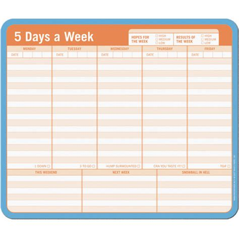 note paper mouse pad weekly planner in notepads and pens