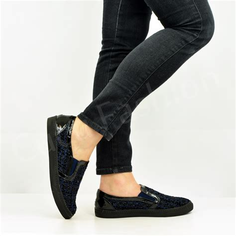 Casual Pumps 1 new womens casual pumps trainers flat slip on