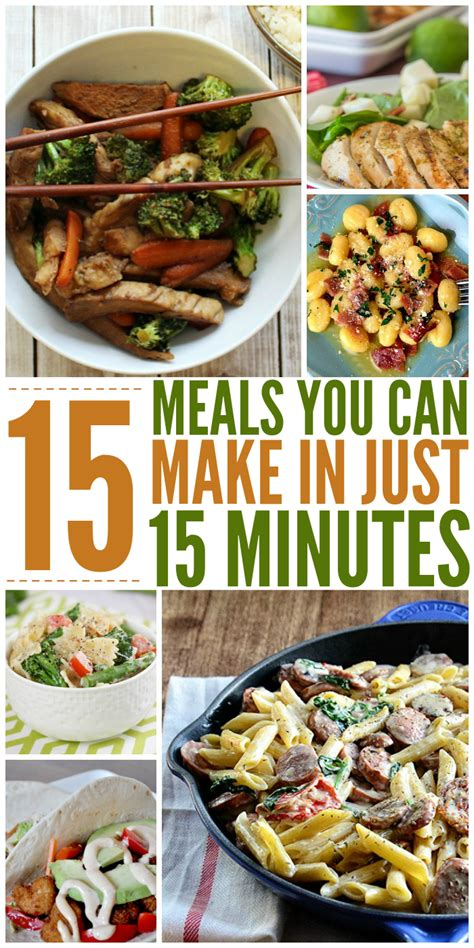 15 meals you can make in 15 minutes or less