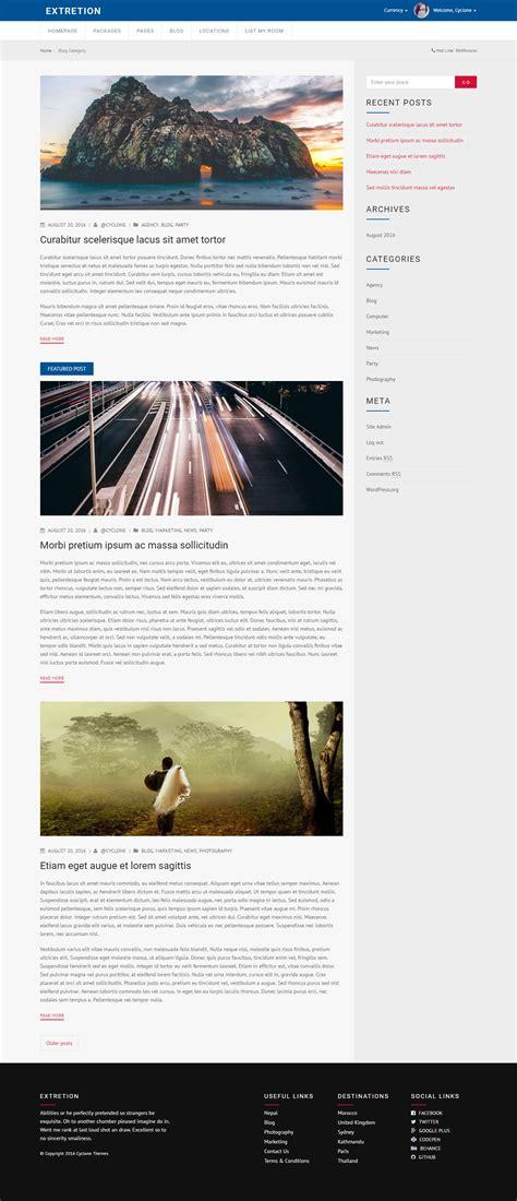 themeforest blog listing extretion hotel directory wordpress theme by