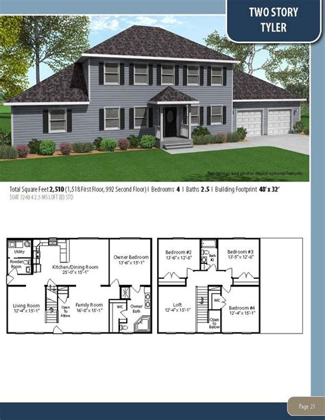 tyler by all american homes two story floorplan 15 best american lifestyles home floorplan collection