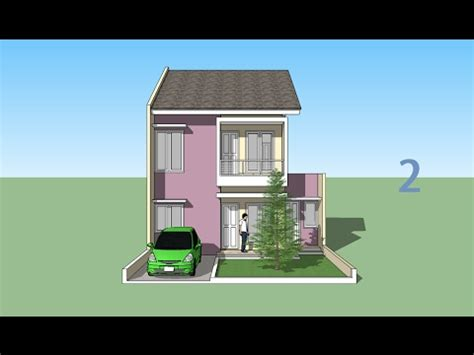 house design sketchup youtube sketchup house minimalis 2 floor design part 2 youtube