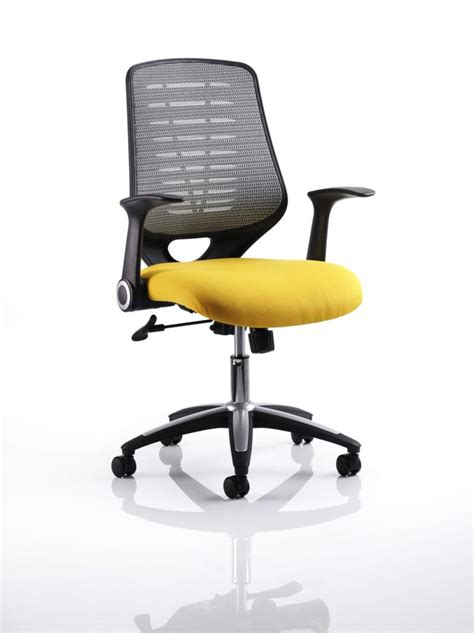 yellow office chair uk relay mesh office chair with yellow seat