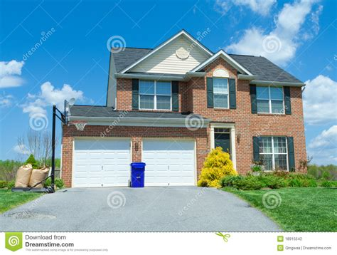 sale brick single family house home suburban usa stock