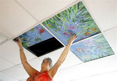 ceiling art ceiling art project gives triangle cancer patients a