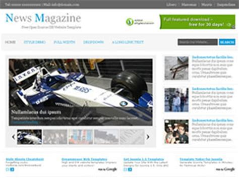 templates for news website free download news magazine free website template free css templates