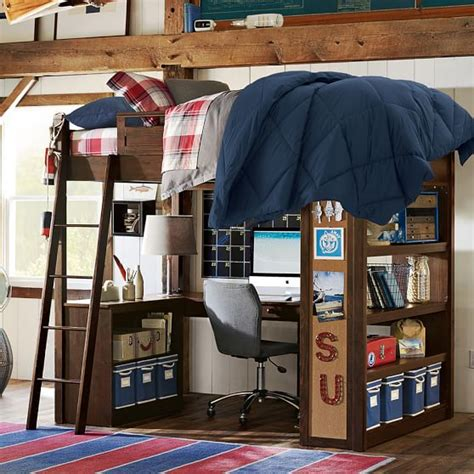 pb teen loft bed sleep study 174 loft pbteen
