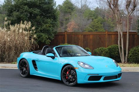 miami blue porsche boxster dealer inventory miami blue 718 boxster s manual chrono