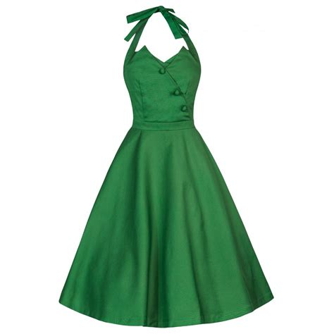 swing vintage myrtle green halter neck swing dress vintage dresses