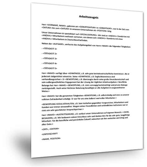 Kostenlose Vorlage Qualifiziertes Arbeitszeugnis Arbeitszeugnis Muster Musterix