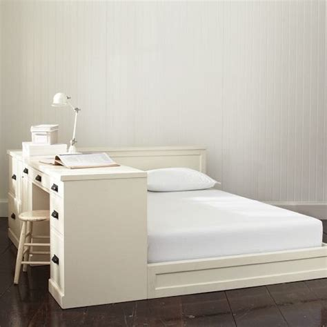 platform bed with desk or with a desk paramount bed pbteen home goods