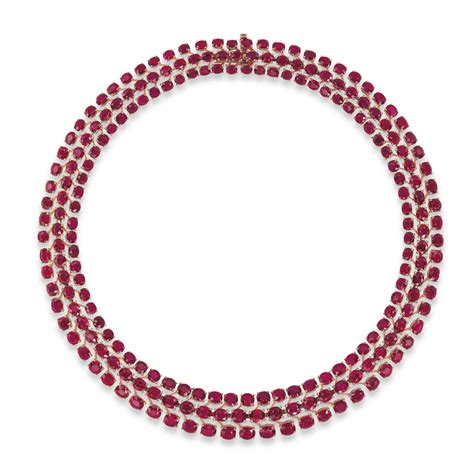 Lot Ruby a ruby necklace christie s