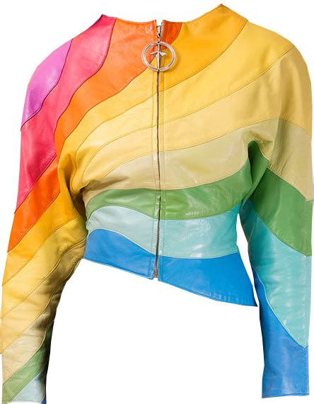 rainbow leather jacket transparent image free png images