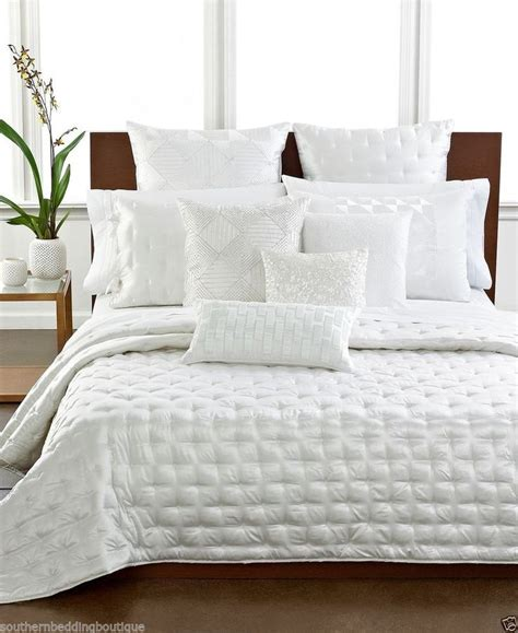 coverlet white hotel collection finest silk king coverlet white 570