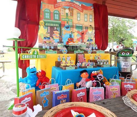 birthday themes sesame street kara s party ideas rustic whimsical sesame street birthday