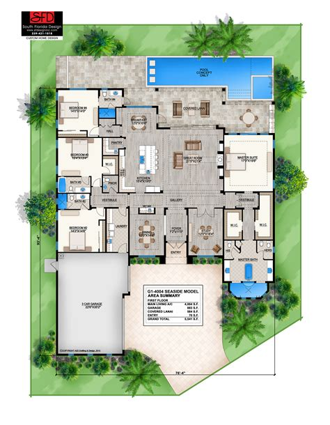 Seaside Cottage Plans South Florida Designs Coastal Contemporary 1 Floor Home