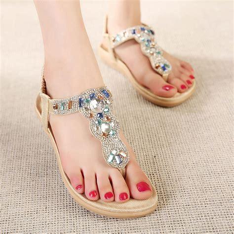 Flat Shoes Yongki Komaladi 6 aliexpress buy sandals comfort flat sandals rhinestone 2018 summer fashion