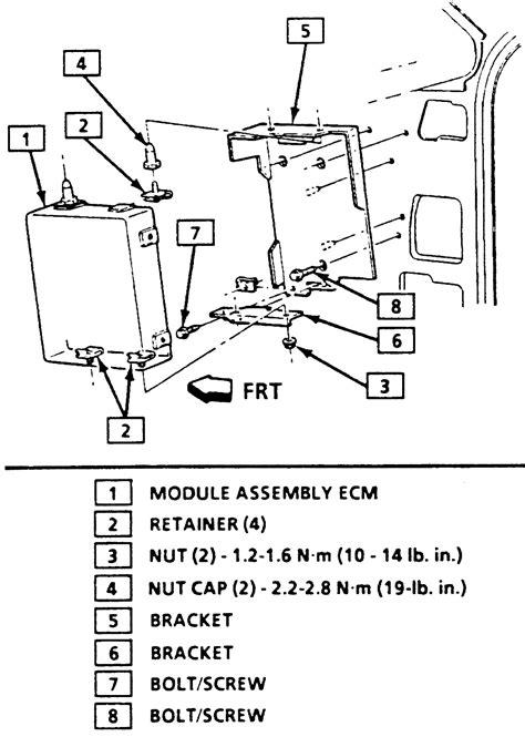 service manual removal of pcm from a 1991 mercury sable mercury sable 1992 1995 mercury repair guides electronic engine controls electronic control module ecm autozone com