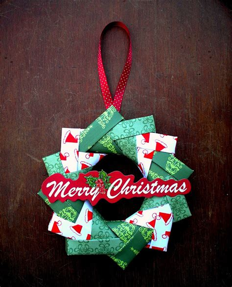 Origami Wreath Ornament - how to origami wreath make handmade crochet craft