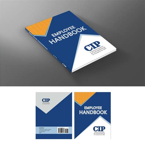 Employee Handbook Cover Design Template by Modern Bold Education Book Cover Design For College