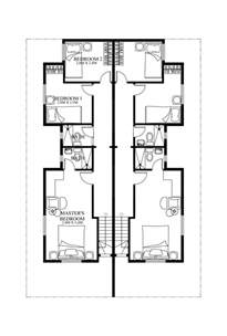 Duplex Design Plans duplex house plans php 2014006 second floor plan
