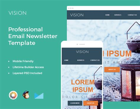 Bundle Of 14 Email Newsletter Templates Mailchimp Compatible Only 24 Mightydeals Mailchimp Html Newsletter Templates