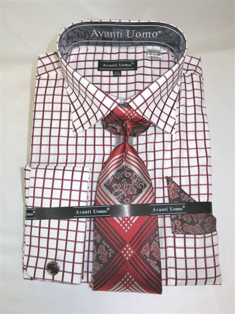 pattern matching in french avanti dn72m burgundy men s french cuff dress shirt with