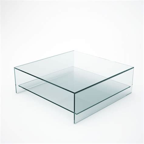 square glass coffee table with shelf glassfurniture large