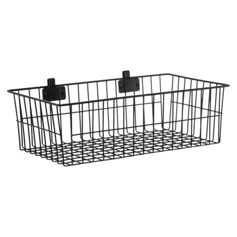 target wire shelving hanging basket wire shelf attachment black room