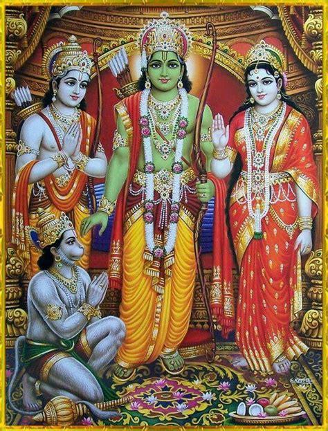 ram hindu god hindu god sri ram laxman maa sita and hanuman ji hindu