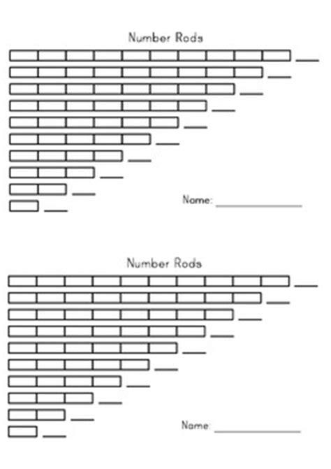 printable montessori rods number rods montessori printable by montessori