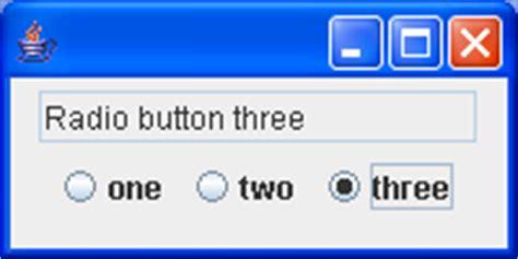 swing radio button using jradiobuttons radio button 171 swing jfc 171 java