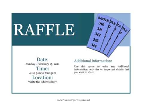 raffle flyer template flyer for raffle
