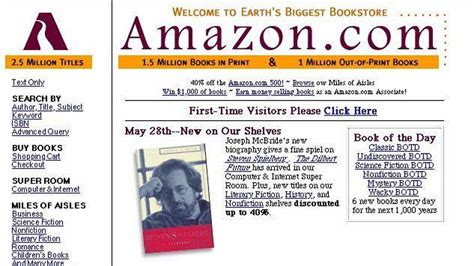 amazon history remember when amazon only sold books