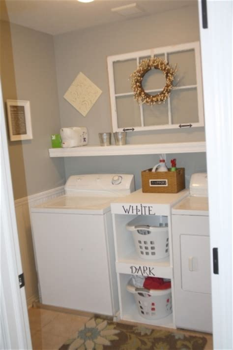 stylish a narrow laundry room with the large sink and the