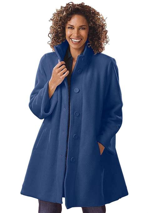 swing style coats woman within plus size jacket swing style in cozy fleece