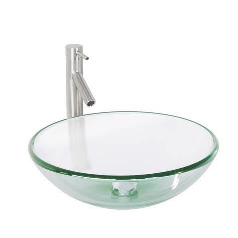 vigo vessel sink faucet vigo glass vessel sink in crystalline and vessel