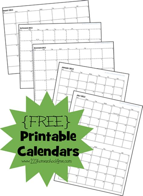printable calendar homeschool free homeschool printable calendars free homeschool deals