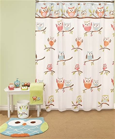 hooty owl bathroom set elegantbath hooty hoot owl collection shower curtain