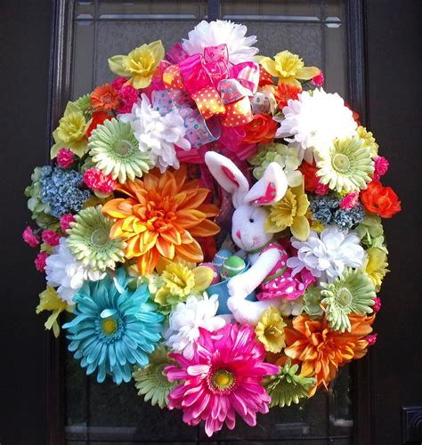spring wreaths easter wreath spring wreaths bunny wreath conni spring