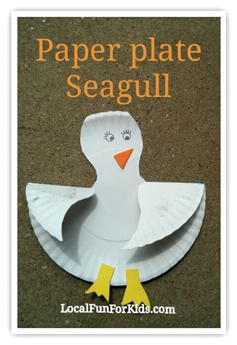 Paper Plate Seagull Craft - 75 simple paper plate crafts for every occasion how wee