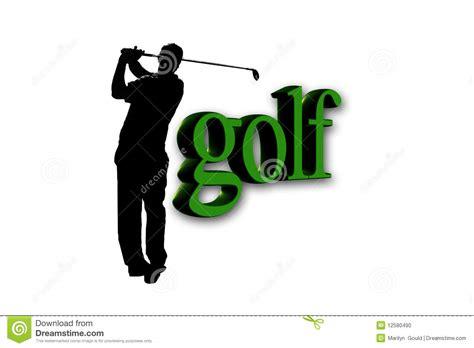 Word Swing Golfer Golf Text Stock Photo Image 12580490
