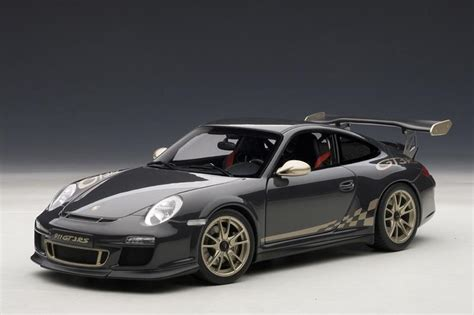 gold porsche gt3 autoart porsche 911 997 gt3 rs grey black w white