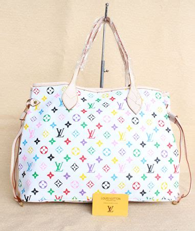 Tas Wanita Lv Neverfull Louis Vuitton Import Branded Ha Promo 23401 tas lv neverfull multicolor white tsp 187 my business