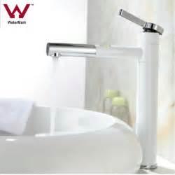 White Vanity Faucet Countertop White Brass Bathroom Basin Faucet Sink Mixer